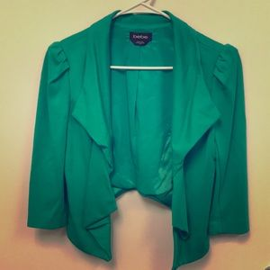 Bebe 3/4 Sleeve Green Jacket